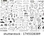 hand drawn doodles for design... | Shutterstock .eps vector #1745328389