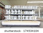ceramic toilet semi finished... | Shutterstock . vector #174534104