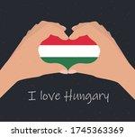 i love hungary  card  poster ... | Shutterstock .eps vector #1745363369