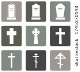 Vector Set Of Cemetery Icons....
