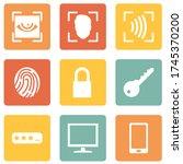 vector set of cyber security... | Shutterstock .eps vector #1745370200