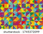 abstract vector background with ... | Shutterstock .eps vector #1745372099