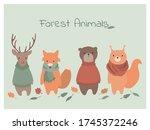 vector illustration of cute... | Shutterstock .eps vector #1745372246