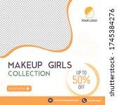 makeup girls collection... | Shutterstock .eps vector #1745384276