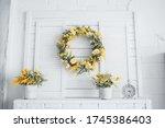 Wreath  Flowers  Alarm Clock On ...