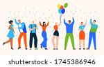 Group Of People Celebrate...