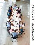 businessman addressing meeting... | Shutterstock . vector #174539189