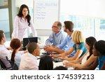 businesswoman addressing...   Shutterstock . vector #174539213