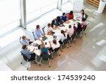 businesswoman addressing... | Shutterstock . vector #174539240
