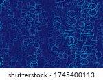 an array of random numbers 0... | Shutterstock .eps vector #1745400113