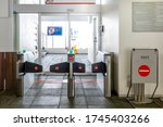 Two automatic entrance door in...
