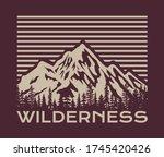vintage outdoor mountain... | Shutterstock .eps vector #1745420426