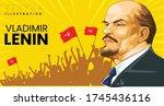 Portrait of Vladimir Lenin  no reference images used