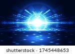 abstract futuristic digital... | Shutterstock .eps vector #1745448653