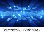 abstract futuristic digital... | Shutterstock .eps vector #1745448659