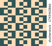 retro pattern with navy and... | Shutterstock .eps vector #1745463866