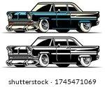 Vector Of Vintage American...
