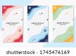 set of minimalist abstract... | Shutterstock .eps vector #1745476169
