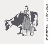 The Farmer And The Cow. Graphi...