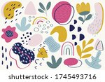 modern handmade abstract... | Shutterstock .eps vector #1745493716