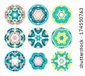 kaleidoscope geometric pattern. ... | Shutterstock .eps vector #174550763