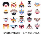 photo booth props with carnival ... | Shutterstock .eps vector #1745510966