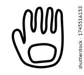 vector icon with a glove for a... | Shutterstock .eps vector #1745516153
