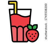 strawberry juice icon  beverage ... | Shutterstock .eps vector #1745538200