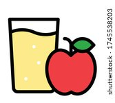 apple juice icon  beverage... | Shutterstock .eps vector #1745538203