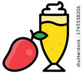 mango smoothie icon  beverage... | Shutterstock .eps vector #1745538206