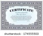 template for the design of... | Shutterstock .eps vector #174555503