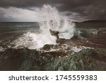 Storm In The Adriatic Sea. A...