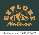 vintage outdoor mountain... | Shutterstock .eps vector #1745573639