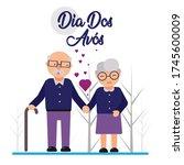 dia dos av s illustration... | Shutterstock .eps vector #1745600009