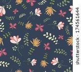 floral seamless pattern | Shutterstock .eps vector #174561644