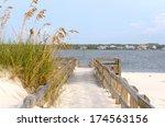 A Sand Path Leads Through Sea...