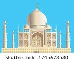 taj mahal  famous building in... | Shutterstock .eps vector #1745673530