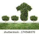 conceptual image of green plant ... | Shutterstock . vector #174568370