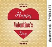 vintage paper valentine's day... | Shutterstock . vector #174568676
