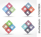 abstract emblem with arrows ... | Shutterstock .eps vector #174569804
