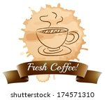 illustration of a fresh coffee... | Shutterstock .eps vector #174571310