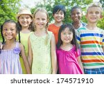 friendship group of children.   Shutterstock . vector #174571910