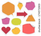 labels and stickers on white... | Shutterstock . vector #174572003