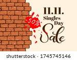 singles day sale november 11... | Shutterstock .eps vector #1745745146