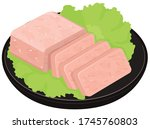 pork luncheon meat. vector...   Shutterstock .eps vector #1745760803