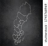 sweden map administrative...   Shutterstock . vector #1745768969