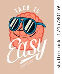 take it easy. funny brain... | Shutterstock .eps vector #1745780159