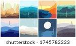 vector illustration landscape.... | Shutterstock .eps vector #1745782223