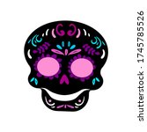day of the dead skull isolated... | Shutterstock .eps vector #1745785526