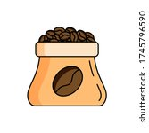 corn  coffee  bag icon. simple...